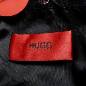 "Hugo Boss Jackets & Coats - Hugo Boss ""Bestino1912"" Black Velour Bomber Jacket"